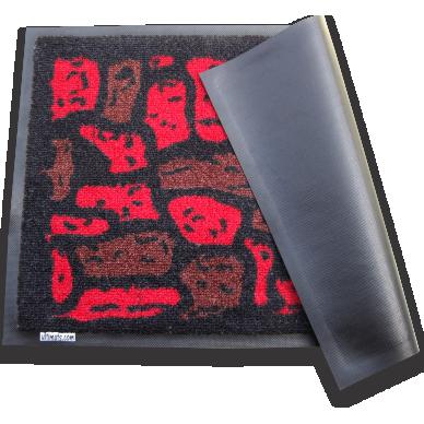 Pebbles 50x75cm Red